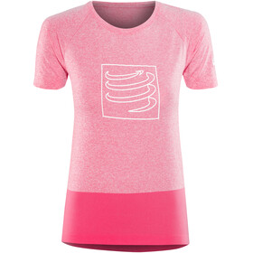 Compressport Training Hardloopshirt korte mouwen Dames roze